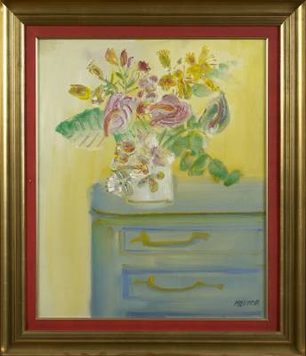 Blasco Mentor, Bouquet à la commode, tableau
