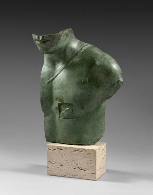 Igor Mitoraj, Aesclepios, sculpture bronze
