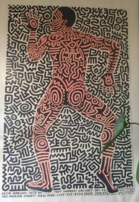 Keith Haring, Into 84, affiche