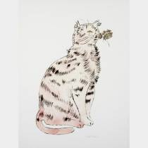 Andy WARHOL - Sam Pink cat - Offset lithographie