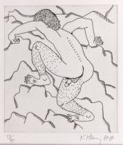 Keith Haring, the Valley, eau forte