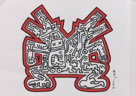 Keith Haring, Composition, dessin