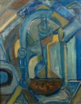 Nicoals Issaiev, nature morte bleue, tableau