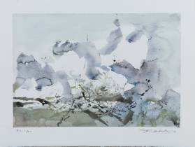 Zao Wou Ki, Composition , lithographie