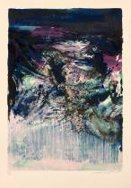 Zao Wou Ki, Composition 76-1, lithographie