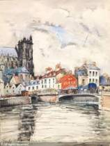 Frank Will, Amiens, aquarelle