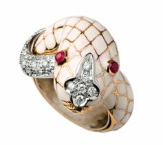 David Webb, bague serpent, bijou