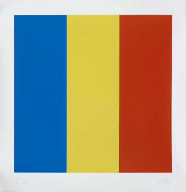 Ellsworth Kelly, Red Yellow blue, sérigraphie