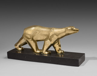 George Lavroff, ours polaire, bronze