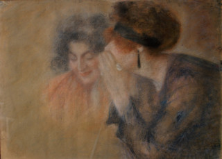 Lucien Levy-Dhurmer, confidence, pastel