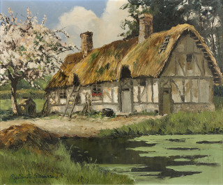 Paul Emile Pissarro, Maison normande, tableau