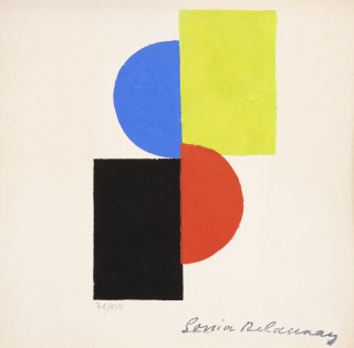 Sonia Delaunay, composition, pochoir
