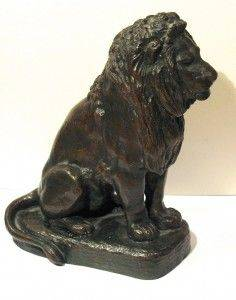 Antoine Louis Barye, lion assis, bronze