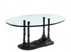 Robert Couturier, table basse, sculpture bronze